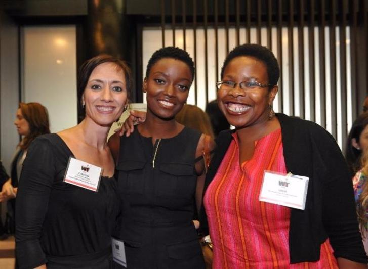 WIT Pros Christina and Olugbemisola flank YPC alumna Nzinga