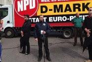Sebastian Schmidtke, proud head of the National Democratic Party's Berlin branch, in pre-putch mode.