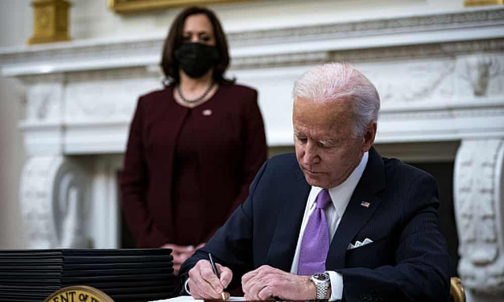 Joe Biden to focus on economic recovery after Covid as 17.5m vaccine shots given in US