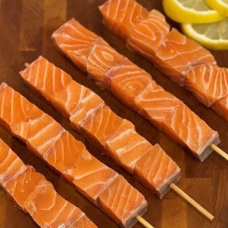 Fresh Salmon Skewers