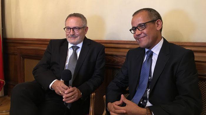 Jean-Jacques Hublin et Abdelouahed ben-Ncer