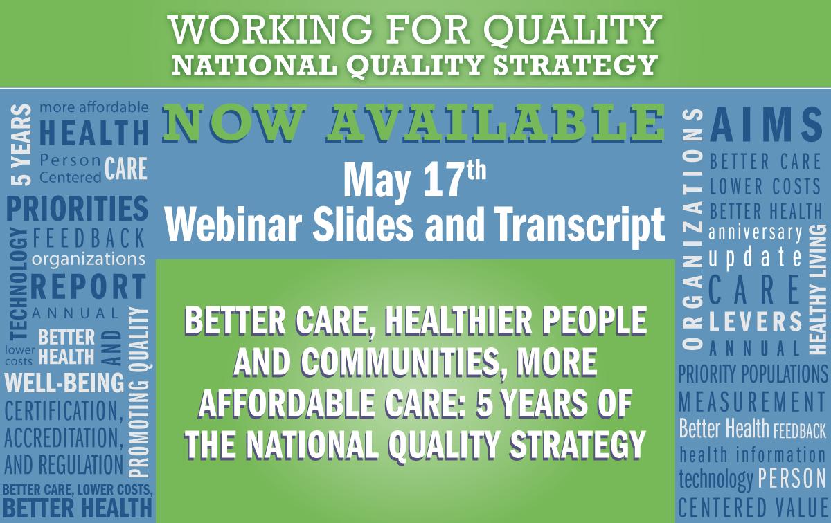 May Webinar Slides and Transcript