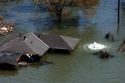 New Orleans flooded on August 29, 2005
