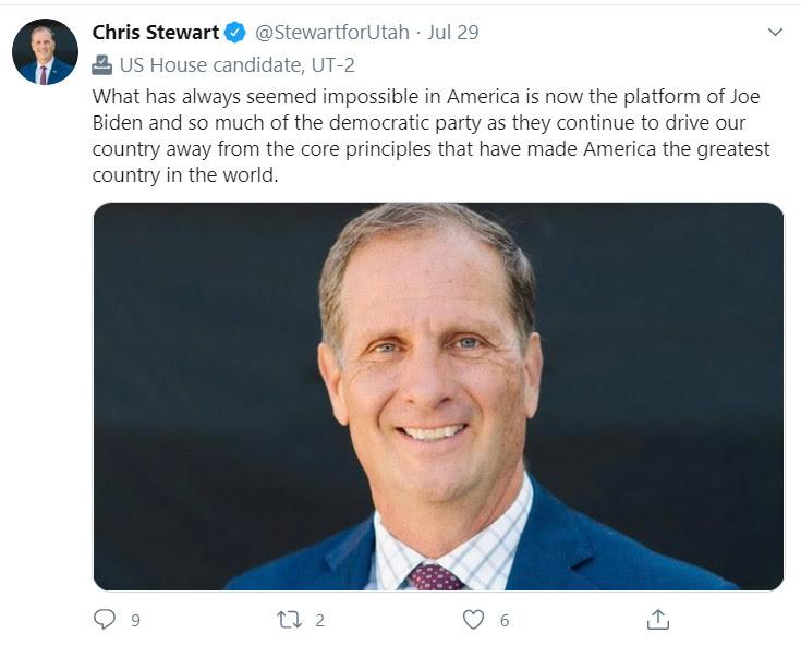Chris Stewart is afraid of socialism