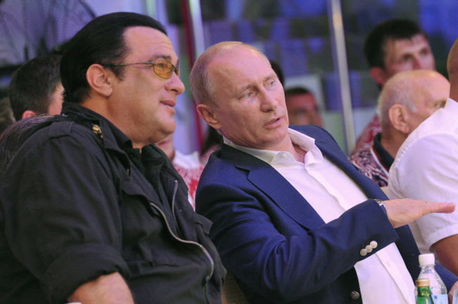 Image result for steven seagal images putin
