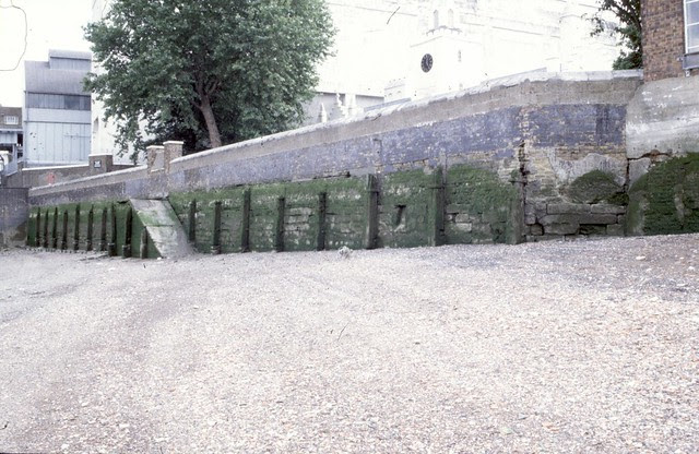 Riverside wall and Trinity Almshouse stairs