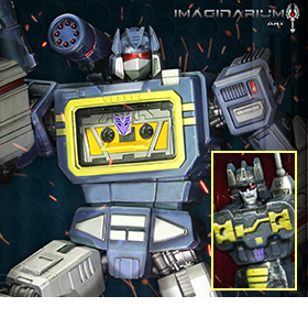 TRANSFORMERS GEN 1 SOUNDWAVE WITH FRENZY BBTS EXCLUSIVE STATUE