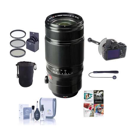 XF 50-140mm (76-213mm) F2.8 R LM OIS WR Lens - Bundle with 72mm Filter Kit, Soft Lens Case