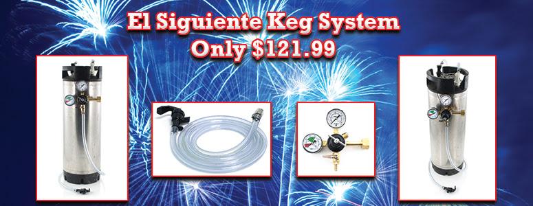 El Siguiente Kegging System On Sale: Only $121.99