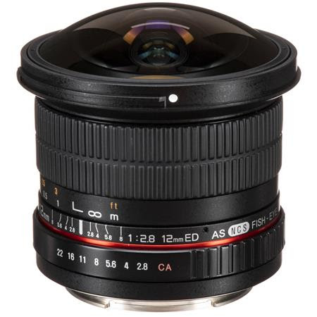 12mm F2.8 Full Frame Fisheye, Manual Focus Lens for Canon EOS Mount