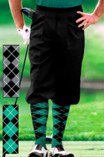 Executive Black Knicker, knickerbocker and argyle sock set.