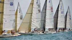J/105s sailing at Verve Cup in Chicago