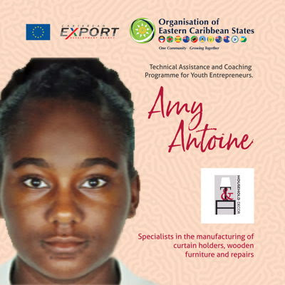 Amy Antoine, beneficiary of the OECS-Caribbean Export Development Agency's Technical Assistance and Coaching Programme