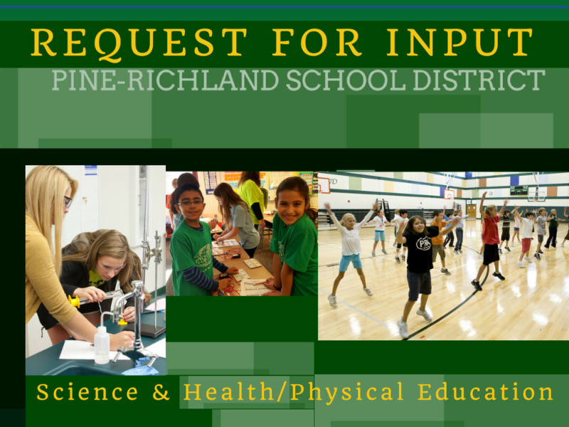 Request for Input  Title_Students shown in science and phys ed class.