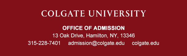 Colgate University footer