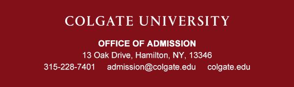Colgate University footer