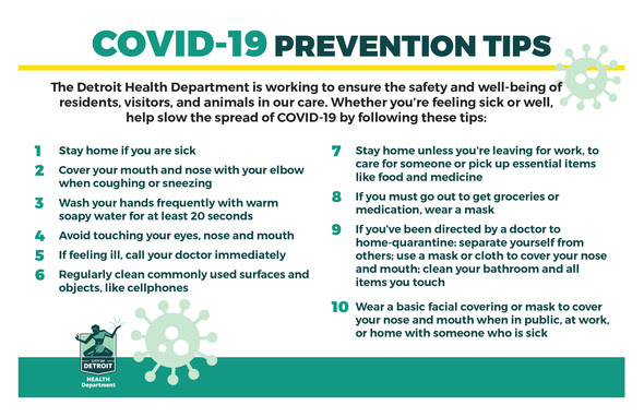 COVID Health Dept. Prevention Tips