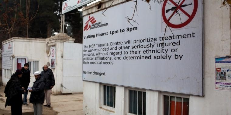 "Kunduz front gate - Doctors Without Borders: ""Even War Has Rules""; Kunduz Fact Sheet"