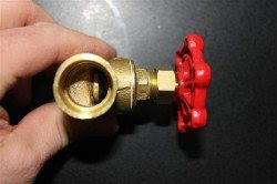 Stop valve fully closed
