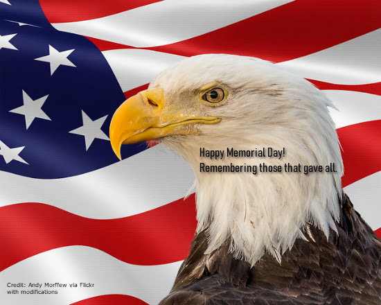 Happy Memorial Day! Remembering those that gave all!