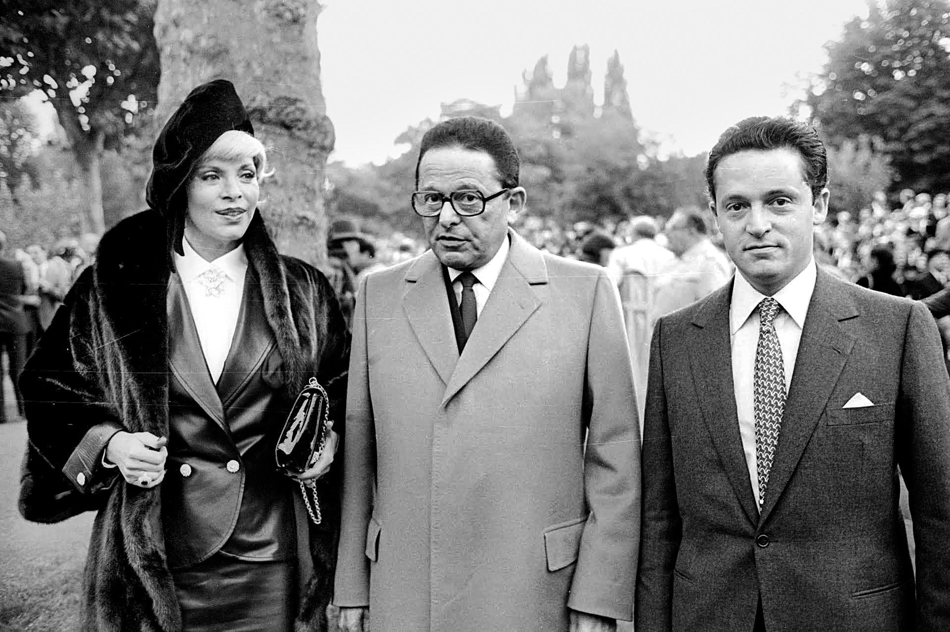 Daniel, center, with his second wife Sylvia, and Guy in 1984