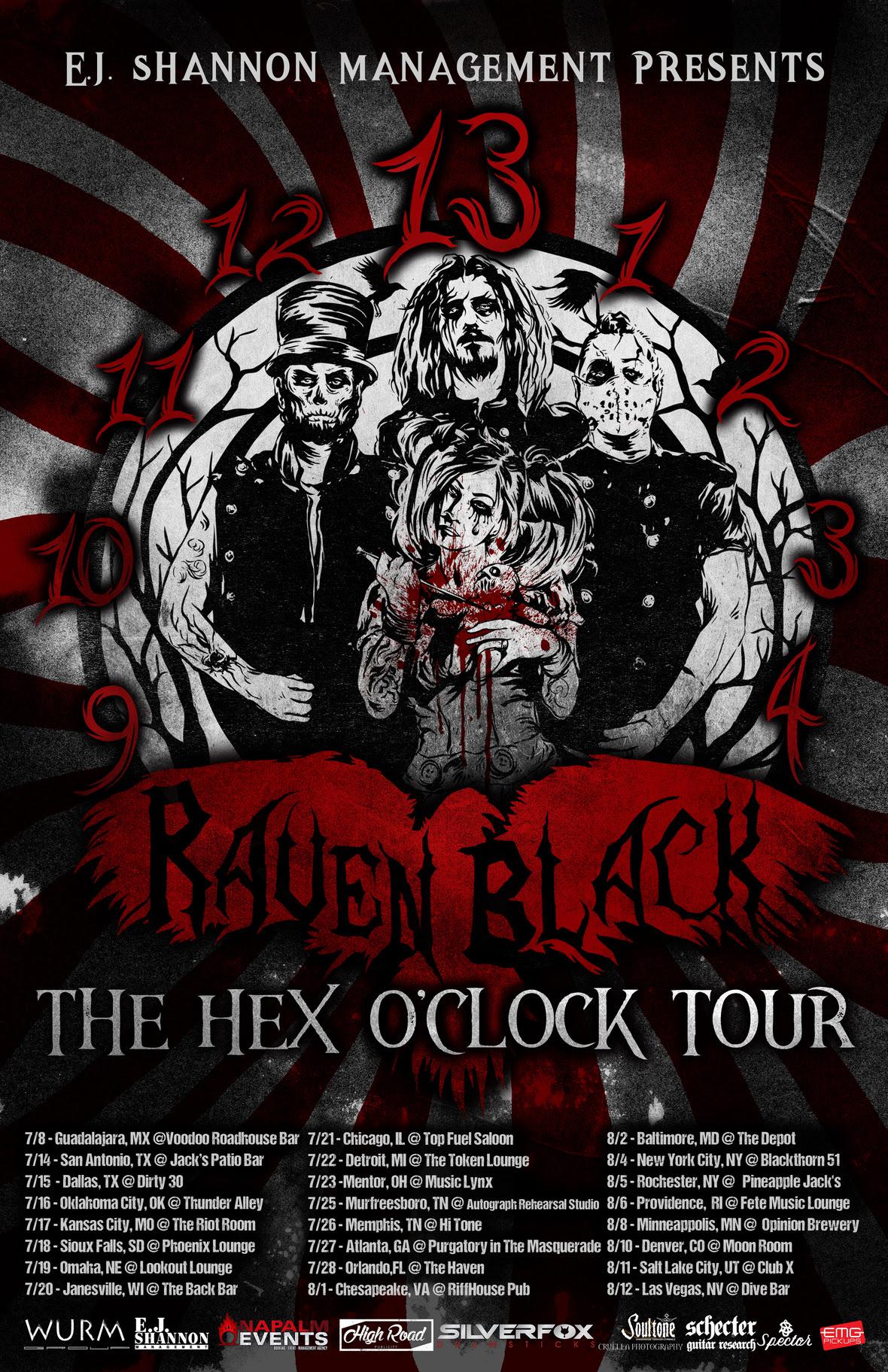Raven Black Hexoclock