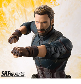 AVENGERS: INFINITY WAR S.H.FIGUARTS CAPTAIN AMERICA & TAMASHII EFFECT