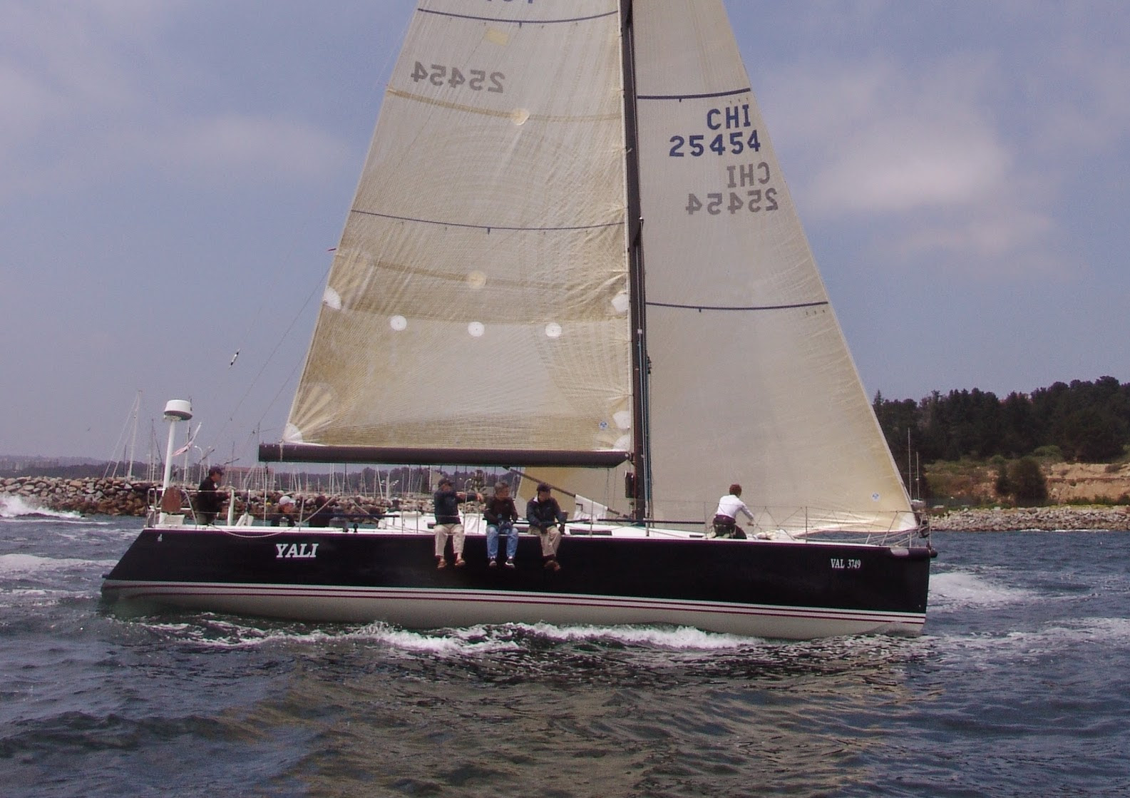J/145 sailing off Algarrobo, Chile