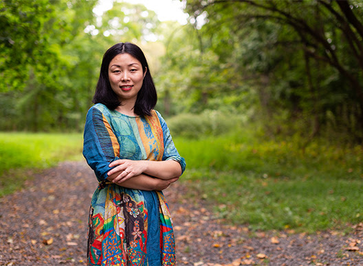 Portrait of Nanfu Wang in the woods
