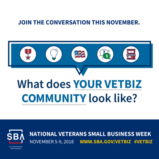 National Veterans Small Business Week logo