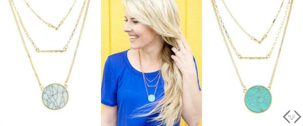 Three Strand Pendant Necklace for $9.98