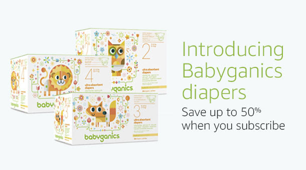 Save 50% on select Babyganics.