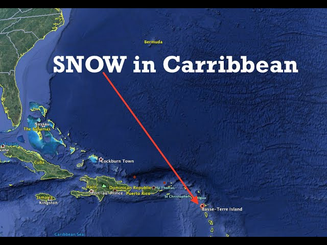"Never before seen SNOW in the Carribbean! | ""extraordinary"" Sddefault"