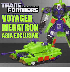 TF GENERATIONS VOYAGER MEGATRON ASIA EXCLUSIVE