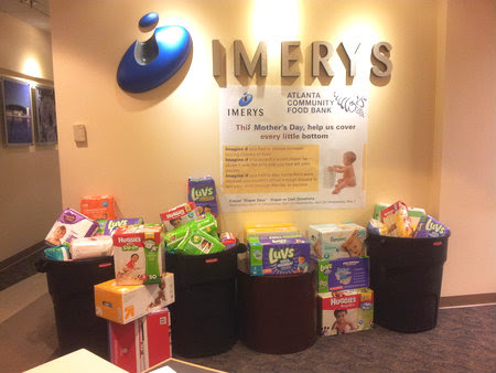 Imerys Diaper Drive Collection Photo - May2014 2