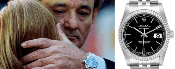 bill murray's Steel White Gold Black Dial