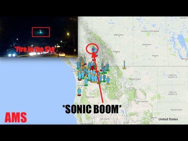 Bright Green Fireball creates *SONIC BOOM* | WA-BC-Vancouver  Sddefault