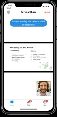 Únete al webinar desde iPhone / iPad