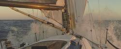 J/125 sailing fast in Ensenada Race