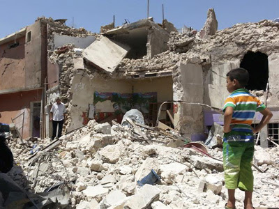 Edificios derruidos en Mosul.