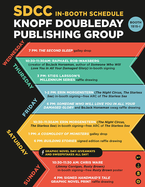 SDCC In-Booth Schedule Knopf Doubleday Publishing Group