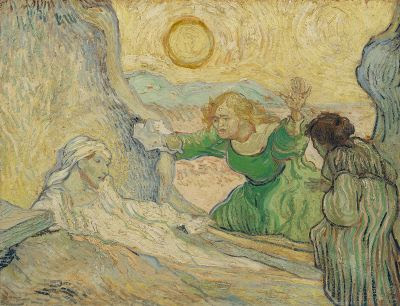 The raising of Lazarus by Van Gogh