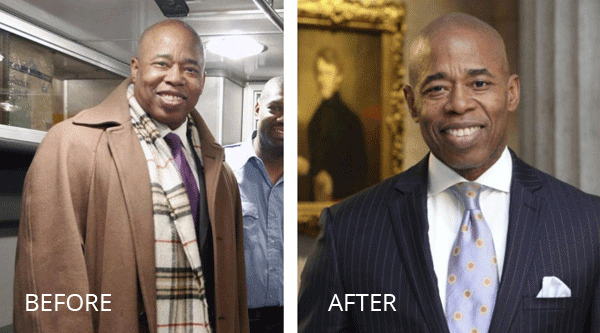 Eric Adams, Before and After