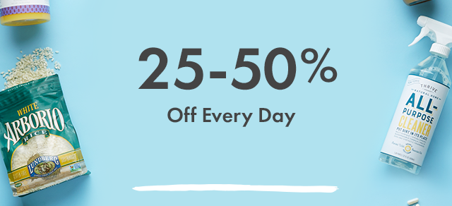 25-50% Off Every Day