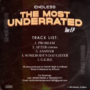 Endless - The Most Underrated (THE EP)