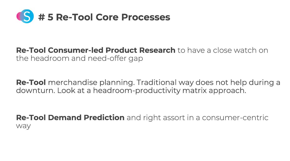 re-tool core processes for post COVID-19 fashion market