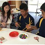 Lisa and learners from Mangere exploring Chinese