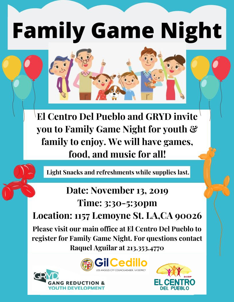 El Centro Family Game Nigh 11-13-19