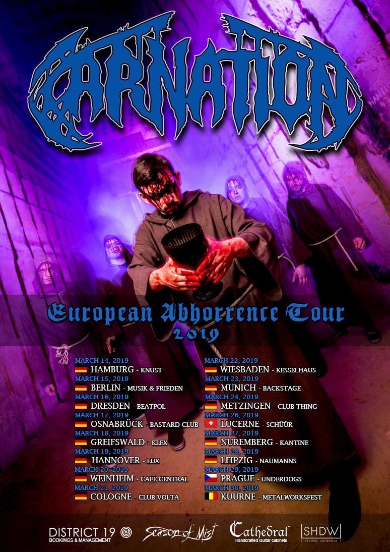 比利時死亡金屬樂團 Carnation 公布演練單曲影片 Power Trip 釋出專輯全曲與巡迴資訊 1
