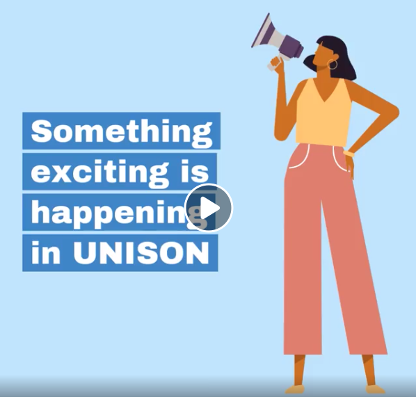 Something exciting is happening in UNISON graphic